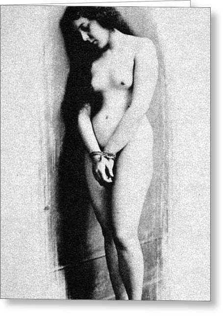 Nude Photographs Greeting Cards - Nude Slave, 1901 Greeting Card by Granger