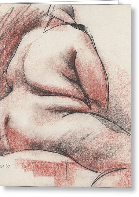 Figurative Drawing Greeting Cards - Nude003 Greeting Card by Edward Henrion