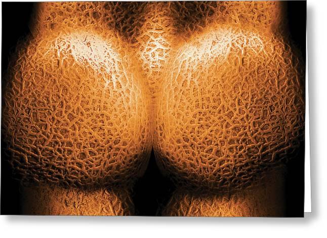 Nudist - Just Cheeky Greeting Card by Mike Savad