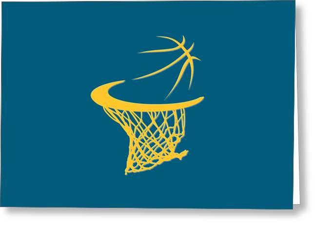 Denver Nuggets Greeting Cards - Nuggets Basketball Hoop Greeting Card by Joe Hamilton