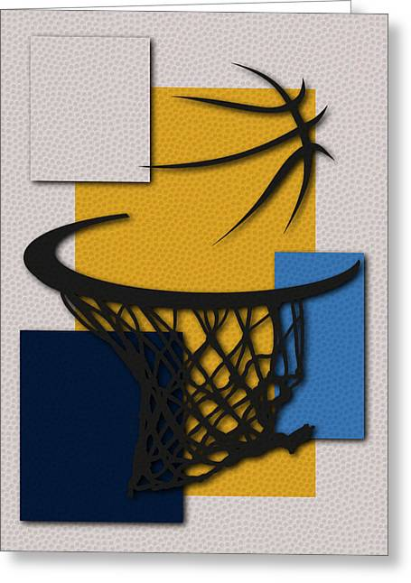 Denver Nuggets Greeting Cards - Nuggets Hoop Greeting Card by Joe Hamilton