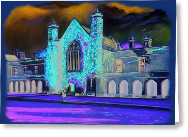 Ireland Pastels Greeting Cards - Nuig Greeting Card by Vanda Luddy