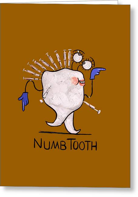 Shirt Digital Greeting Cards - Numb Tooth T-Shirt Greeting Card by Anthony Falbo