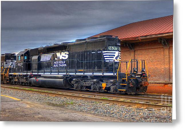 Csx Greeting Cards - Number 1637 Dash One Greeting Card by Reid Callaway