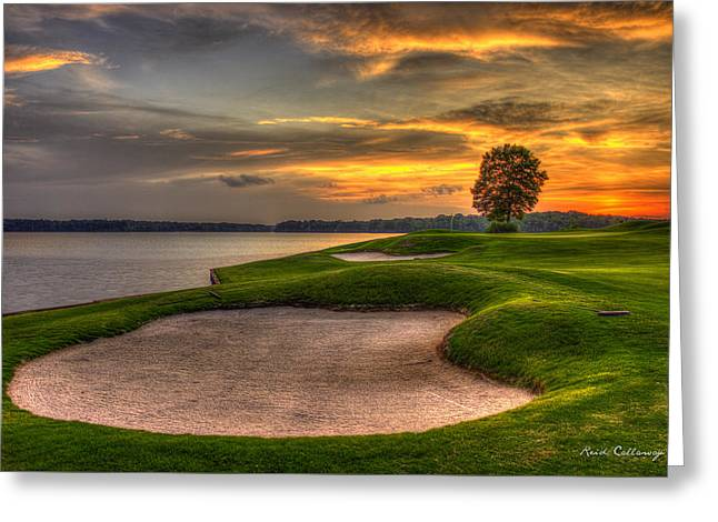 Number 4 Sunset Traps Reynolds Plantation Greeting Card by Reid Callaway