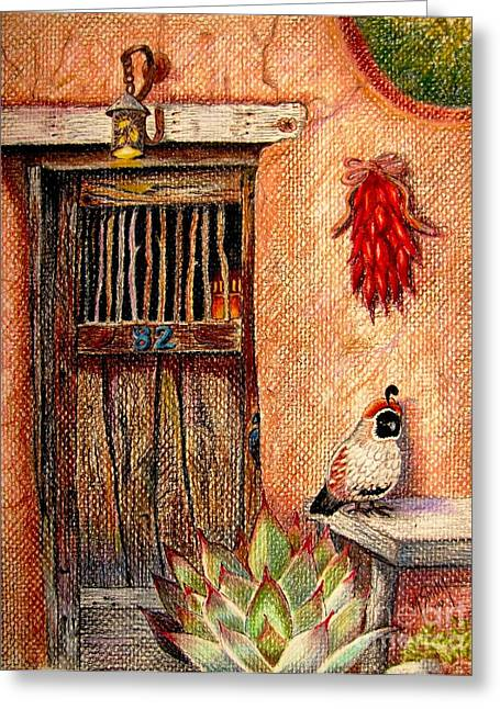 Adobe Drawings Greeting Cards - Number 82 Greeting Card by Marilyn Smith