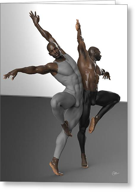 Tasteful Mixed Media Greeting Cards - Number nine dancers Greeting Card by Joaquin Abella