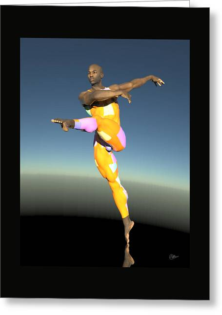 Ballet Dancers Mixed Media Greeting Cards - Principal dancer assay Greeting Card by Quim Abella