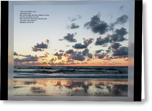 Numbers 6 24-26 Greeting Card by Dawn Currie