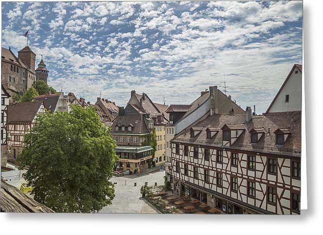 Nuremberg Old Town Overview Greeting Card by Melanie Viola