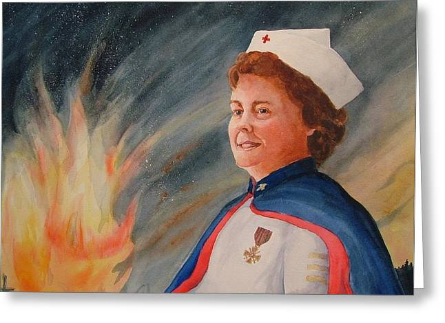 Nurse Arvin Greeting Card by Mary Lou Hall