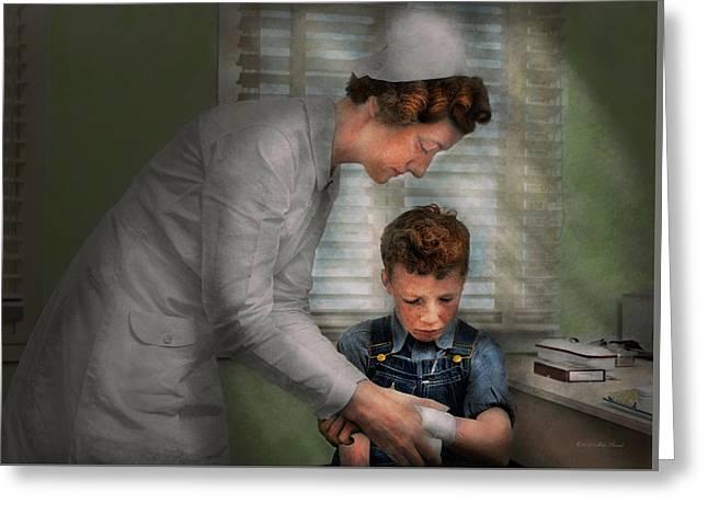 Nurse - Mending Spirits 1939 Greeting Card by Mike Savad