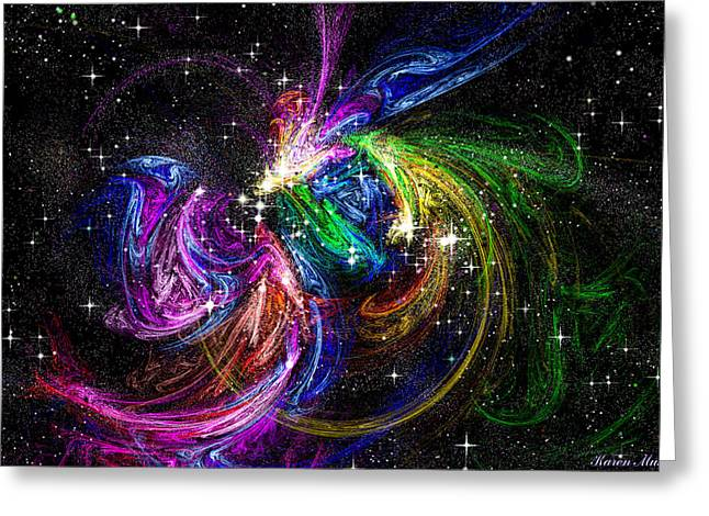 Framed Fractal Prints Greeting Cards - Nursery to the Stars Greeting Card by Karen Musick