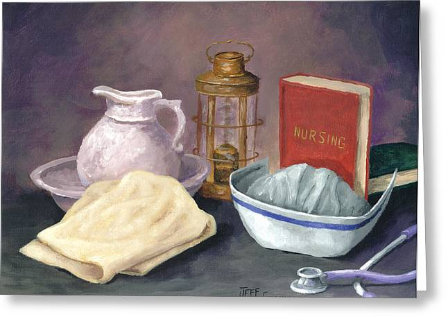 Medical Greeting Cards - Nursing Greeting Card by Jeff Conway
