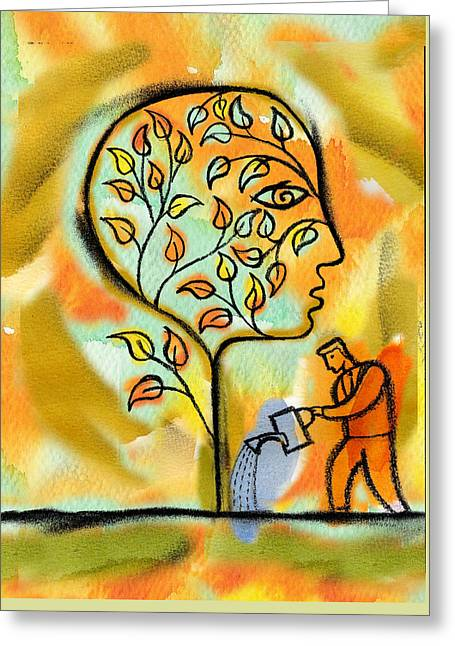 Nurturing And Caring Greeting Card by Leon Zernitsky