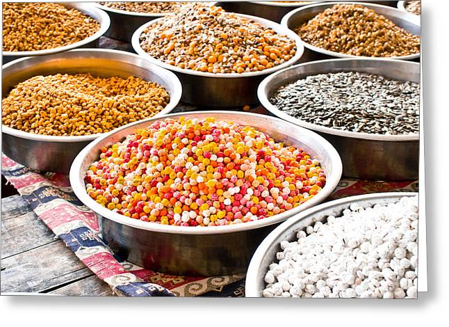 Shell Texture Greeting Cards - Nuts and seeds Greeting Card by Tom Gowanlock