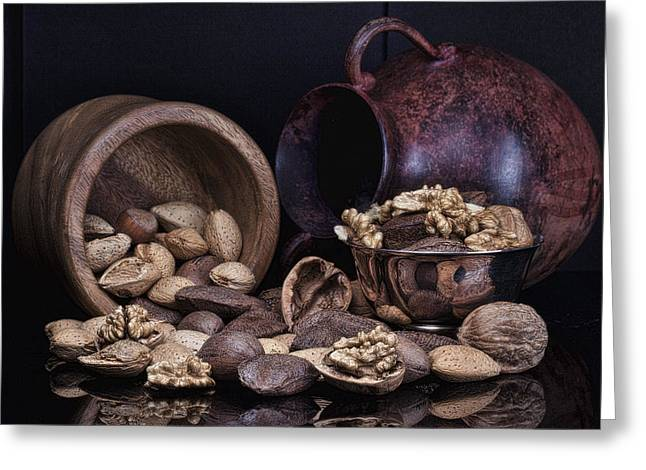 Jugs Greeting Cards - Nuts Greeting Card by Tom Mc Nemar