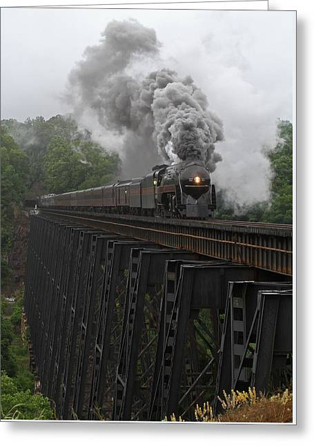 Coal Burner Greeting Cards - NW 611 at Lynchburg Greeting Card by Jonathan McCoy