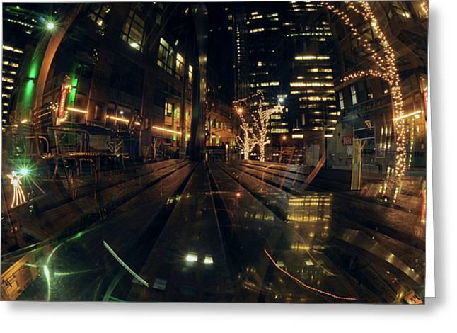 Ny Double two Greeting Card by Mike Lindwasser Photography