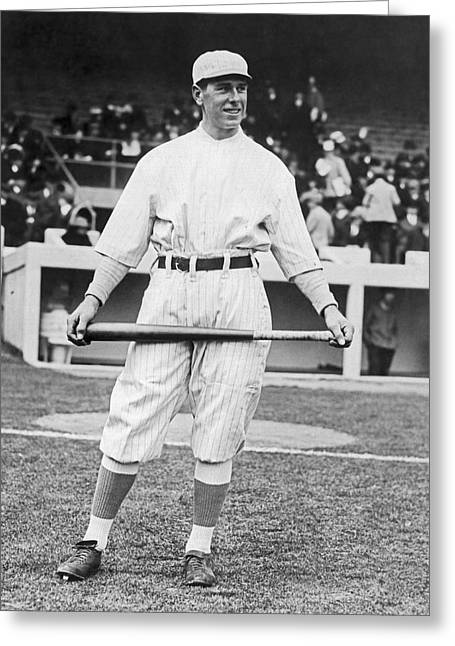 Ny Giants' Fred Snodgrass Greeting Card by Underwood Archives