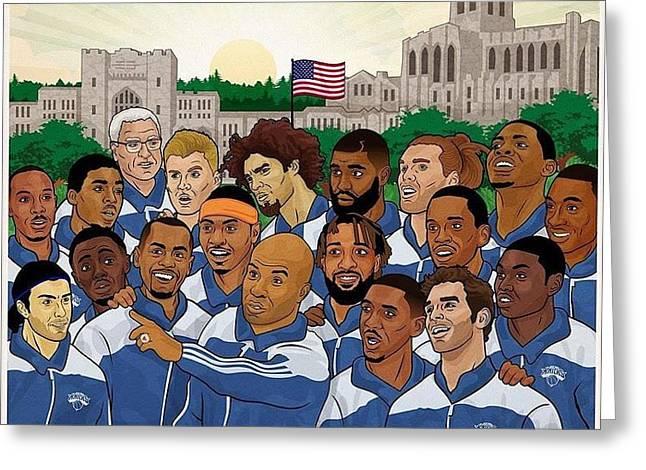 Knicks Greeting Cards - NY Knicks Greeting Card by Eleni Salony