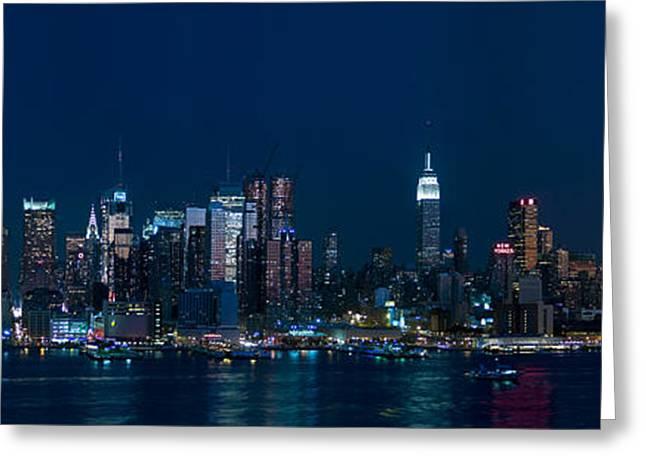 Andrew Kazmierski Greeting Cards - NY Skyline Panorama Greeting Card by Andrew Kazmierski