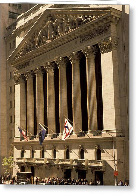 Wall Street Greeting Cards - NY Stock Exchange Greeting Card by Gerard Fritz