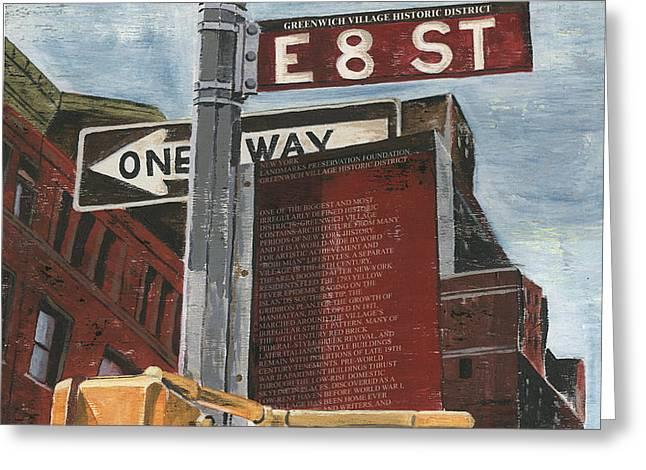 NYC 8th Street Greeting Card by Debbie DeWitt