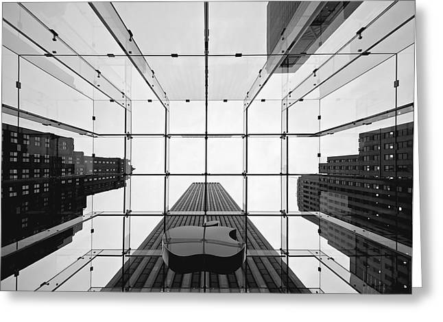 Rooftop Photographs Greeting Cards - NYC Big Apple II Greeting Card by Nina Papiorek