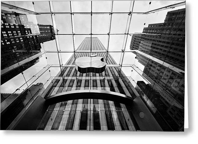 Bw Greeting Cards - NYC Big Apple Greeting Card by Nina Papiorek