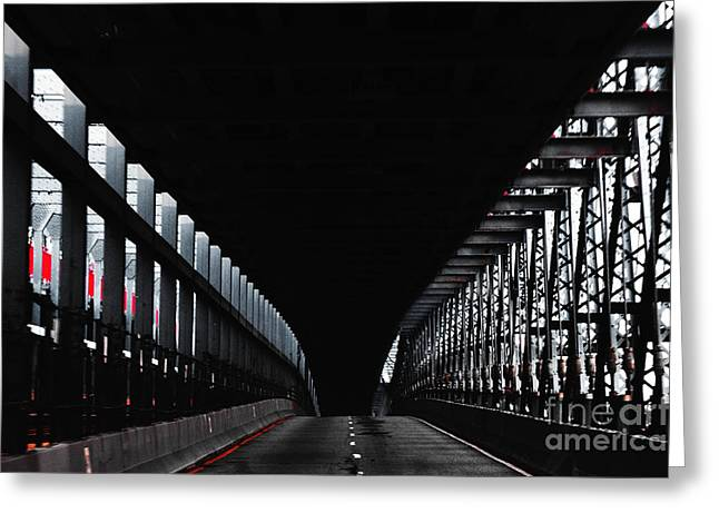 Brdige Greeting Cards - NYC Bridge  Greeting Card by AdSpice Studios