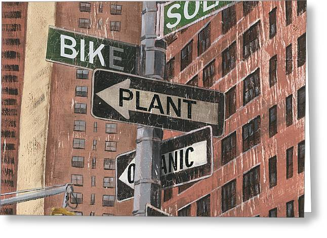 Brick Streets Greeting Cards - NYC Broadway 2 Greeting Card by Debbie DeWitt