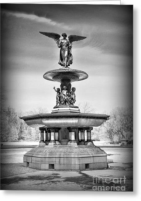 Nyc Central Park Bethesda Fountain Greeting Card by Paul Ward