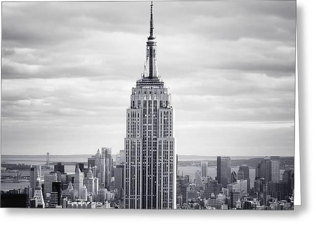 NYC Empire Greeting Card by Nina Papiorek