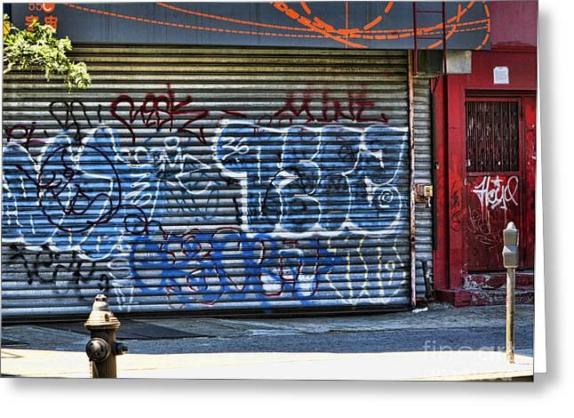 Nyc Graffiti Greeting Card by Chuck Kuhn
