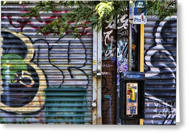 Nyc Graffiti Greeting Cards - NYC Graffiti II Greeting Card by Chuck Kuhn