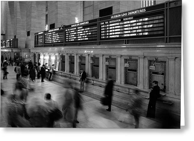 Tickets Greeting Cards - NYC Grand Central Station Greeting Card by Nina Papiorek