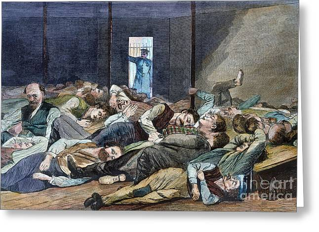 Winslow Homer Photographs Greeting Cards - Nyc: Homeless, 1874 Greeting Card by Granger