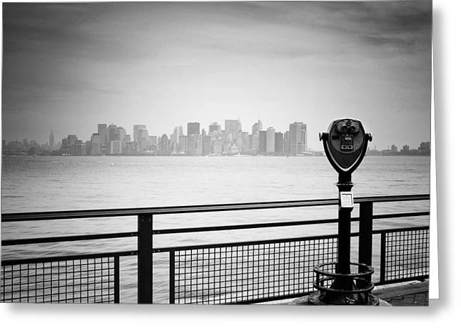 Cityscapes Greeting Cards - NYC Manhattan View Greeting Card by Nina Papiorek