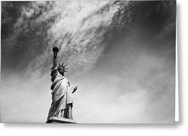 NYC Miss Liberty Greeting Card by Nina Papiorek