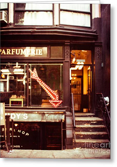 Nyc Parfumerie Greeting Card by Sonja Quintero