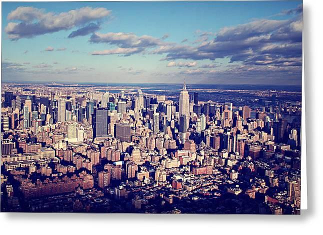 Ariane Moshayedi Greeting Cards - NYC Sky View Greeting Card by Ariane Moshayedi