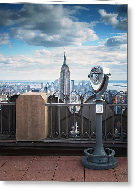Viewpoint Greeting Cards - NYC Viewpoint Greeting Card by Nina Papiorek