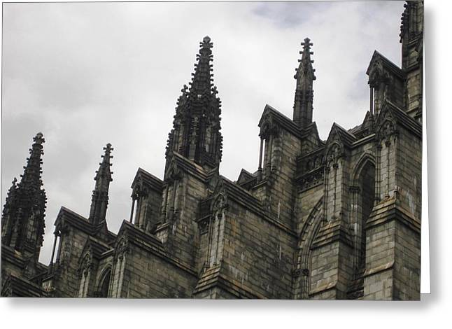 Morningside Heights Greeting Cards - Cathedral Church of St. John the Divine - Morningside Heights NYC  Greeting Card by Charles Allen