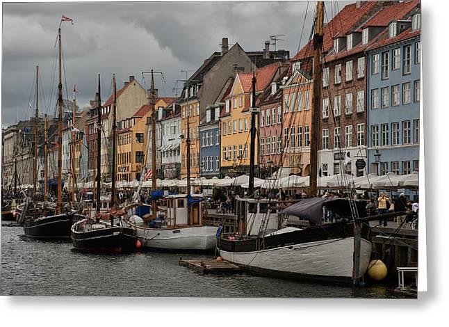 Copenhagen Denmark Greeting Cards - Nyhavn Greeting Card by Wade Aiken