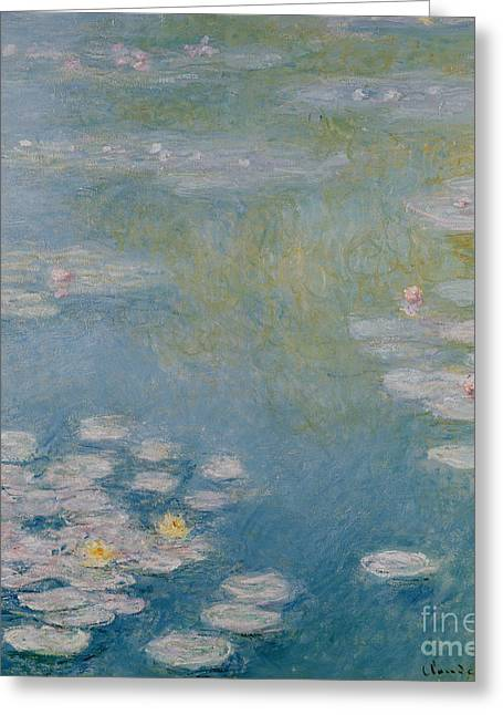 Water Lily Pond Greeting Cards - Nympheas at Giverny Greeting Card by Claude Monet