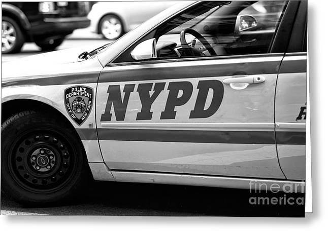 Nypd Greeting Card by John Rizzuto