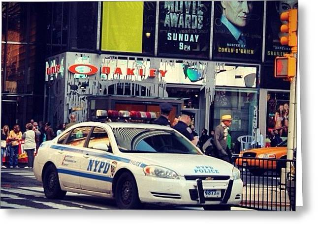 Color Photography Greeting Cards - Nypd  Greeting Card by Victory  Designs