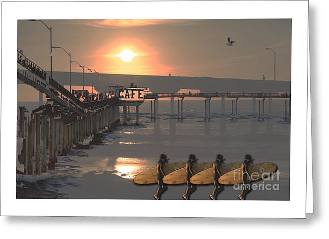 Cellphone Greeting Cards - O B Pier Greeting Card by Alan M Thwaites