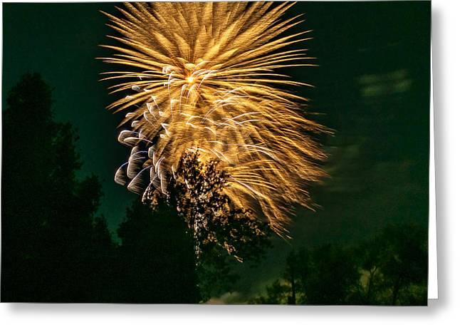 Fireworks Prints Greeting Cards - O Canada 2 Greeting Card by Steve Harrington